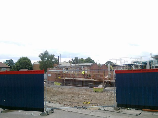 Entrance to the Tesco construction site on Union Street