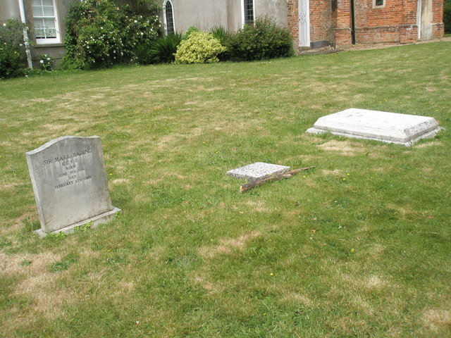 Graves outside the chapel at Stansted House