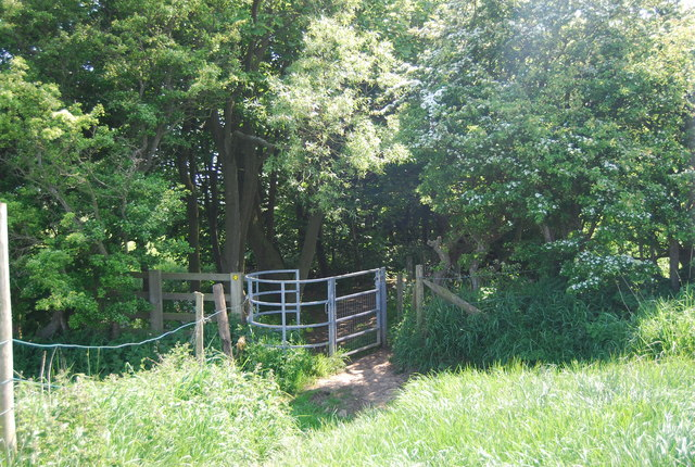 Kissing gate in the corner of a field