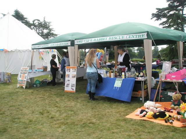 Stalls at the 2010 Garden Show, Stansted House