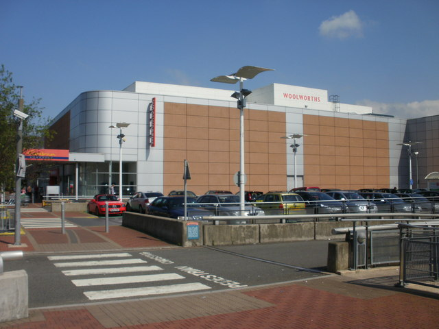 Side view of former Woolworths, Cwmbran
