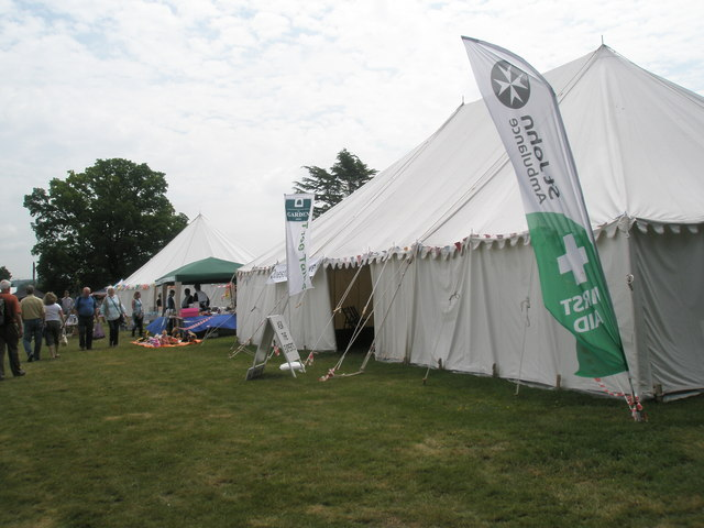 Marquees at the 2010 Stansted House Garden Show