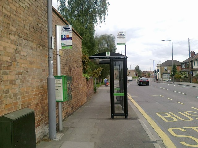 Bus stop on Middle Street, Beeston