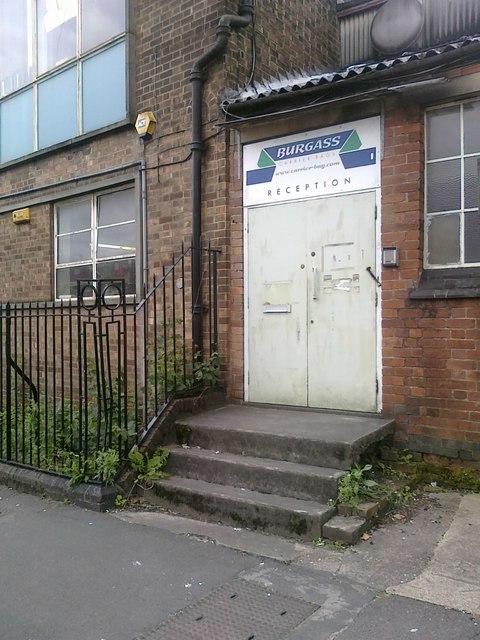 Factory entrance on Lower Regent Street