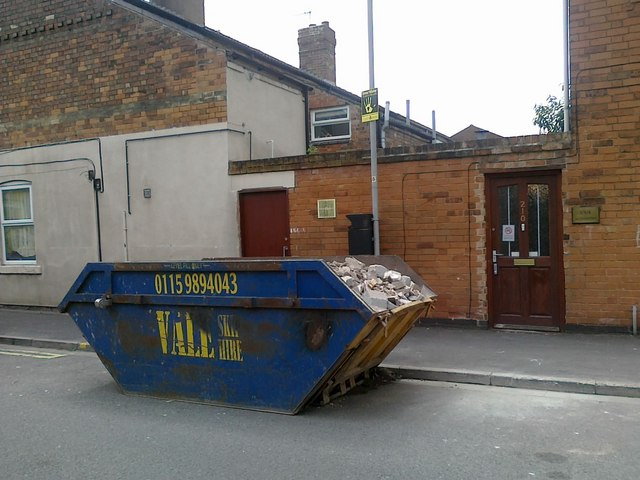 Skip on Lower Regent Street