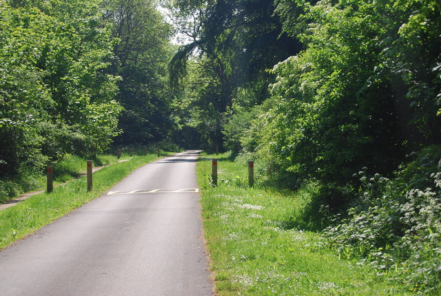The road to Dane's Dyke Country Park