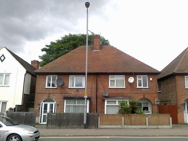 Semi detached houses on Queens Road, Beeston