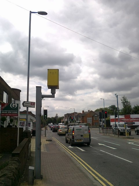 Red light camera on Queens Road