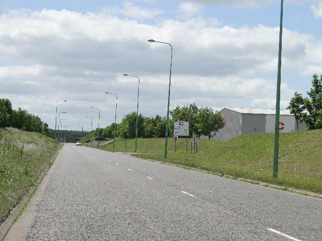 Road to Ellough industrial estate from North Cove