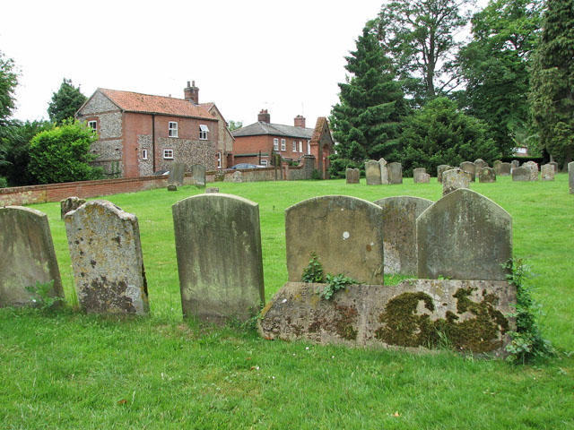 All Saints' church in Necton - churchyard