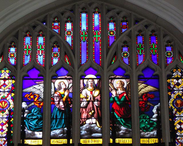 All Saints' church in Necton - east window