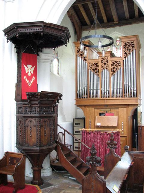 All Saints' church in Necton - Jacobean pulpit
