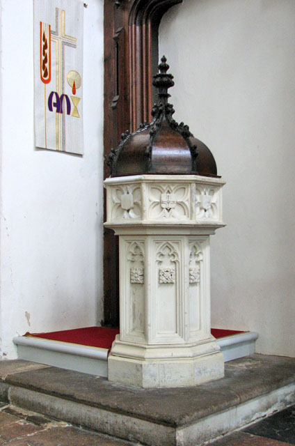 All Saints' church in Necton - baptismal font