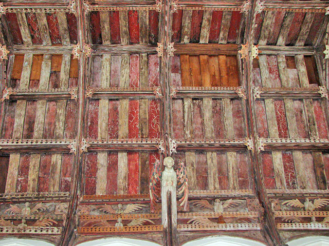 All Saints' church in Necton - angel roof