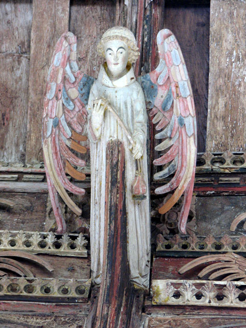 All Saints' church in Necton - roof angel