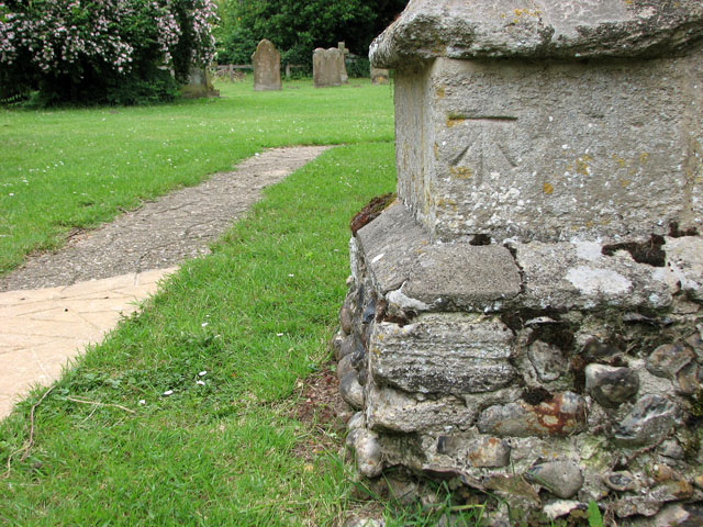 St Andrew's church in North Pickenham - benchmark