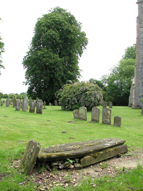 St Andrew's church in North Pickenham - churchyard