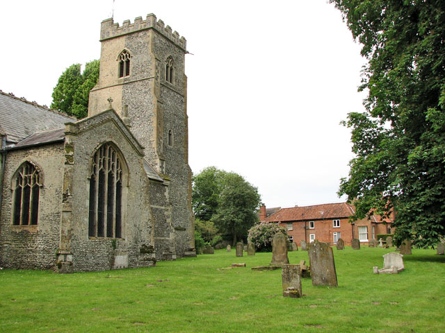 Cottages adjoining St Andrew's church, North Pickenham