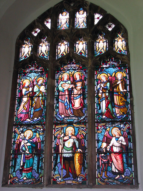 St Andrew's church in North Pickenham - stained glass