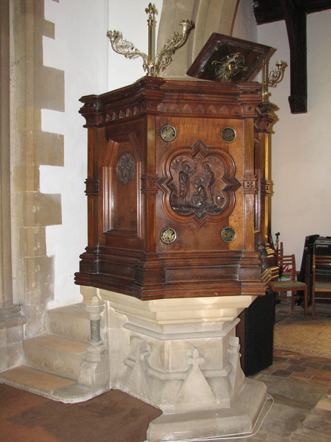 St Andrew's church in North Pickenham - the pulpit