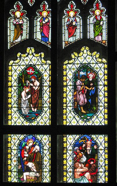 St Andrew's church in North Pickenham - west window