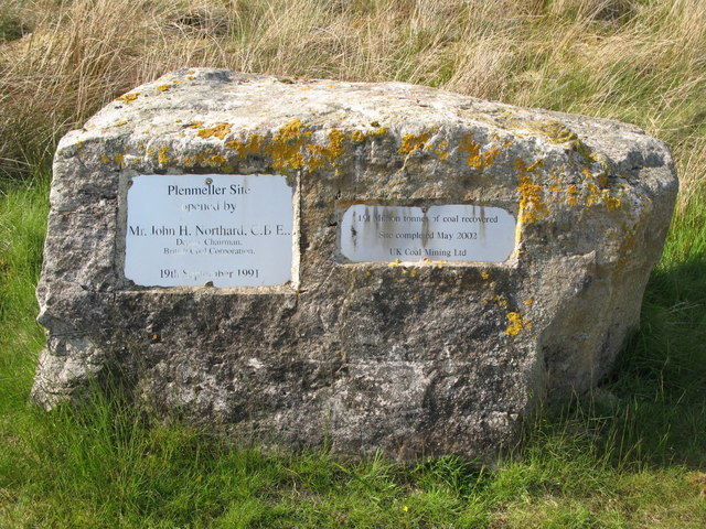 Plaques re the former open cast coal mines on Plenmeller Common