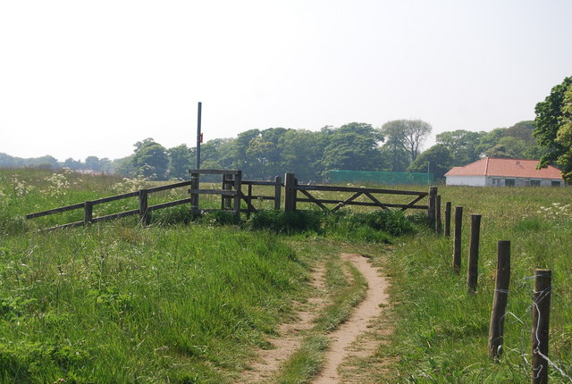 Kissing gate on the Headland Way