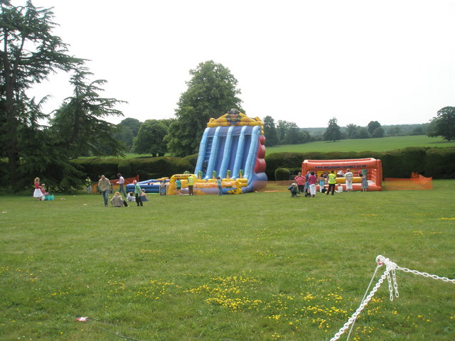 Bouncy castle and slide at the 2010 Garden Show at Stansted House
