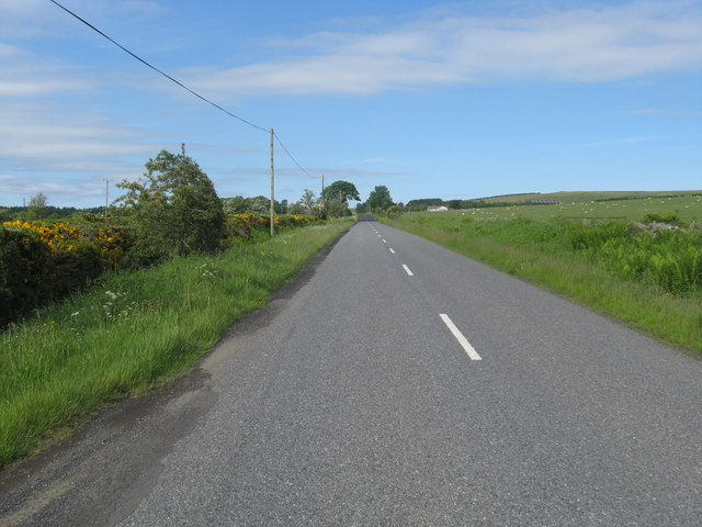 The B6357 heading for Swinnie Farm