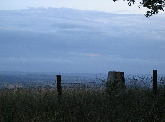 Dusk on Kelston Round Hill