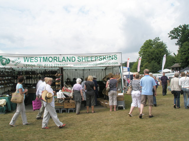 Strolling past Westmoreland Sheepskins at the 2010 Stansted House Garden Show