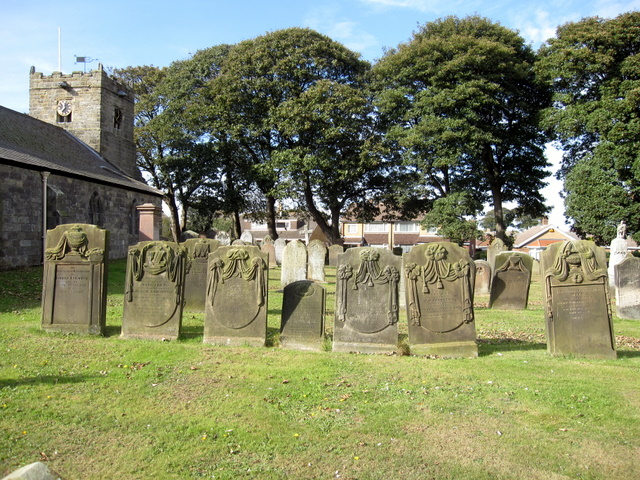 St John the Baptist, Cayton - gravestones