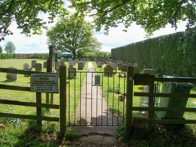 Footpath through the cemetery