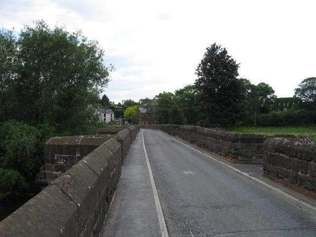 Farndon Bridge over the River Dee