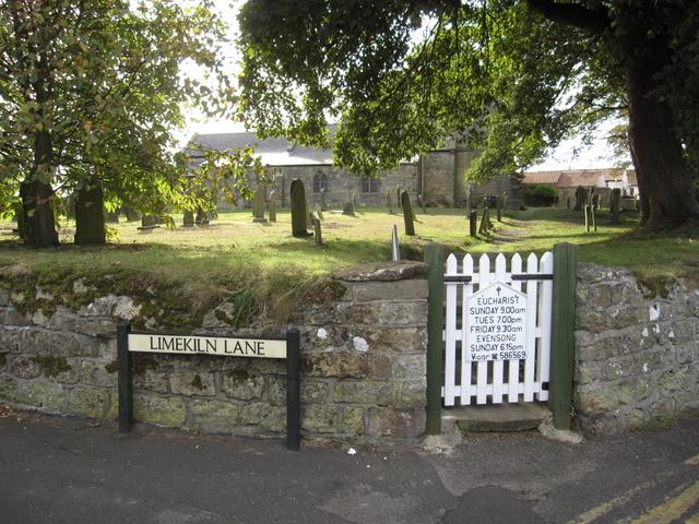 St John the Baptist, Cayton - churchyard gate in