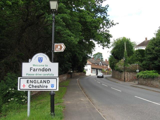 Crossing into England, Farndon