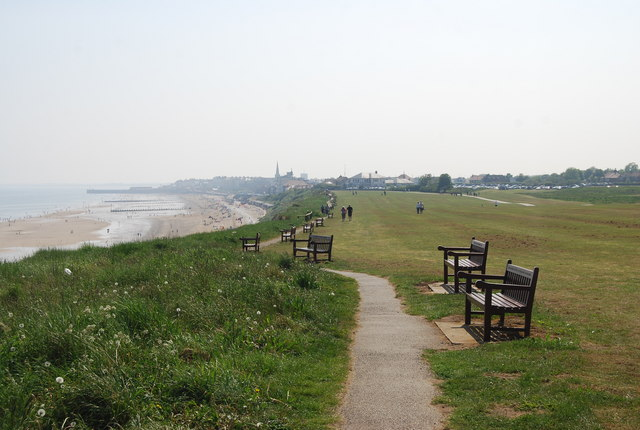 Seafront benches, Headland Way to Bridlington