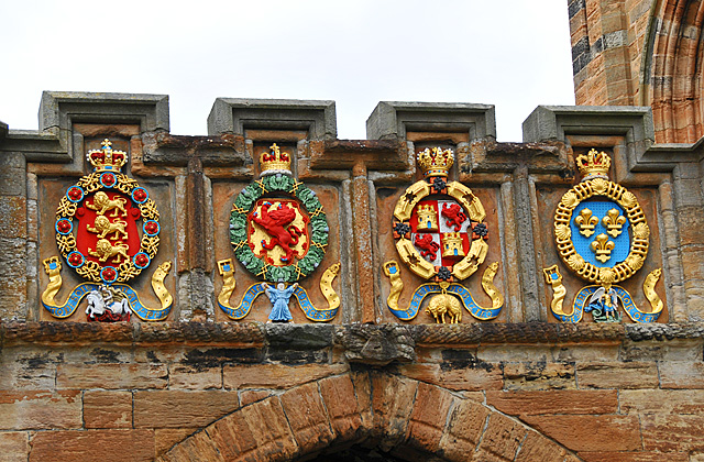 Arms above the Fore Entrance, Linlithgow Palace