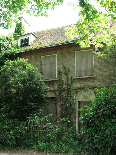 Overgrown and boarded-up