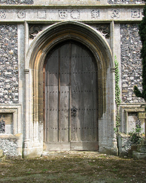 St Andrew's church in Northwold - west doorway
