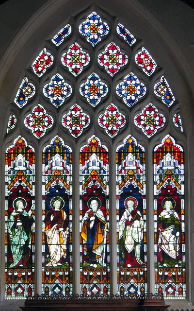 St Andrew's church in Northwold - east window