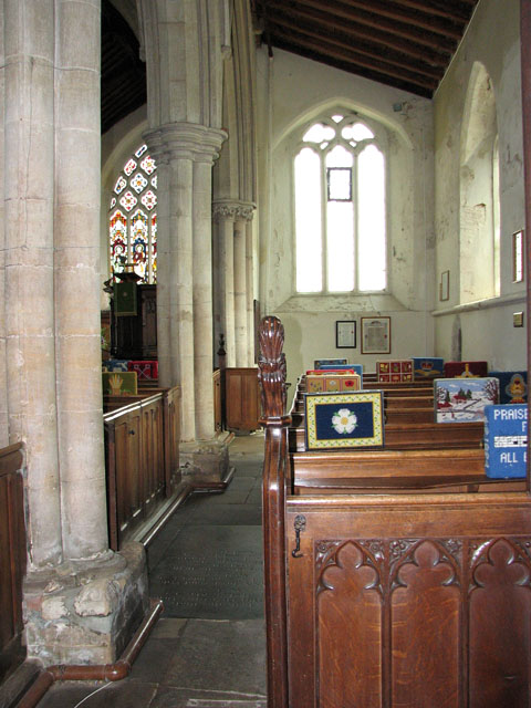 St Andrew's church in Northwold - south aisle
