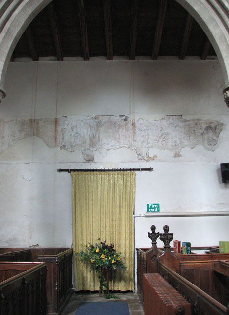 St Andrew's church in Northwold - medieval painting