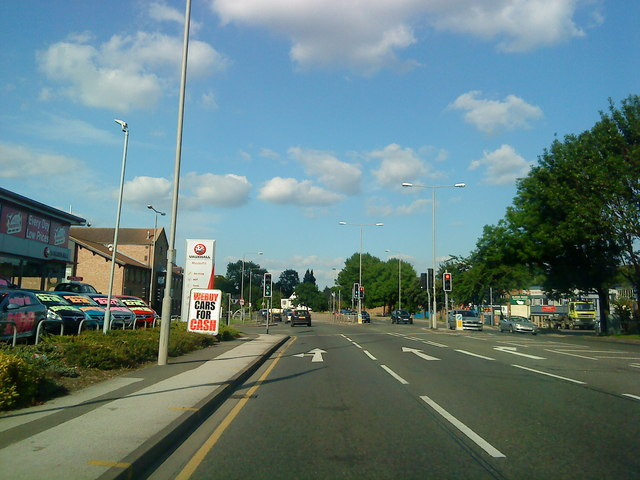 Nottingham Road at the junction with Eldon Road