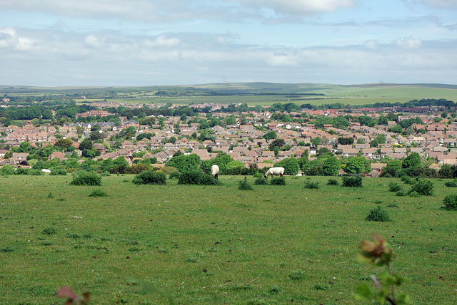 View over Chyngton area of Seaford