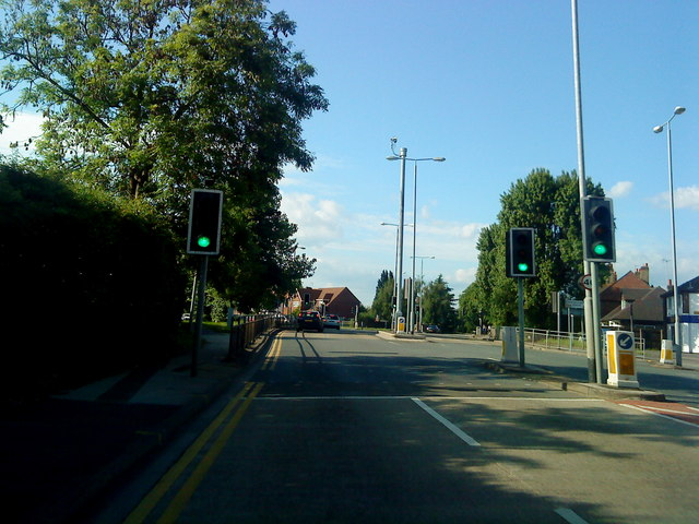 Nottingham Road at the junction with Attenborough Lane