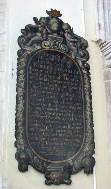 St Andrew's church in Northwold - C18 memorial
