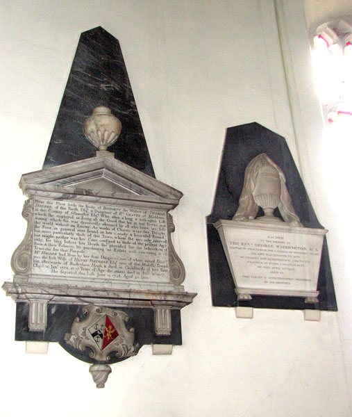 St Andrew's church in Northwold - memorials