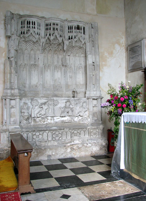St Andrew's church in Northwold - Easter sepulchre