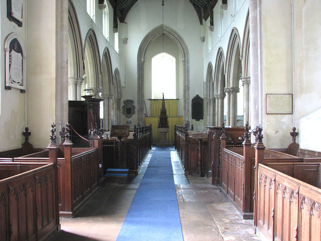 St Andrew's church in Northwold - view west